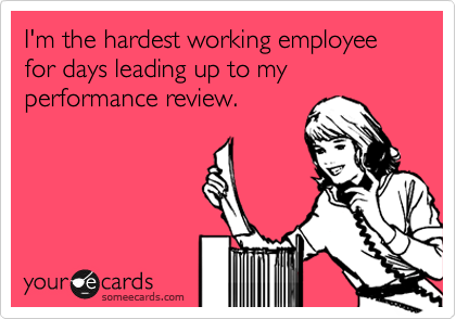employee performance review funny