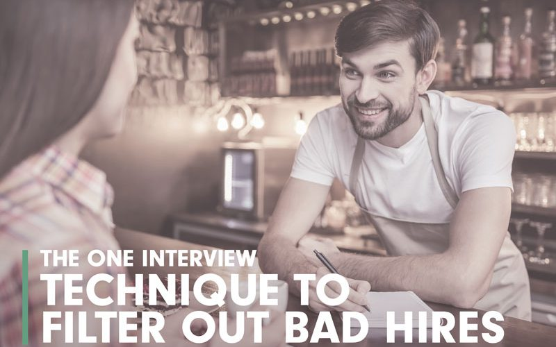 interview technique to filter out bad hires